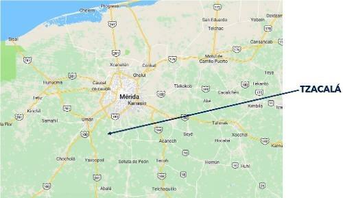 378 has en venta en tzacalá, yucatán, a 14 km de mérida.