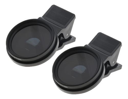 37mm filtro de lente polarizada circular do telefone móvel