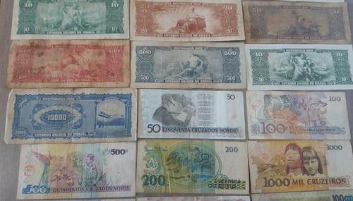 38 cédulas de dinheiro - notas antigas - frete grátis cod01