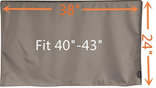 38 cubierta de tv al aire libre, marrón impermeable univer