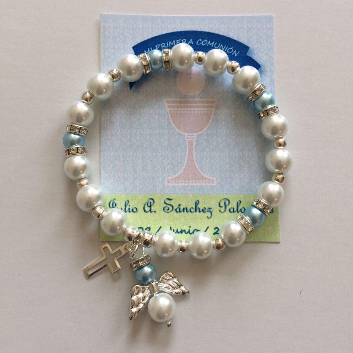 38 pulsera recuerdo bautizo confirmaci n comuni n ni o for Recuerdos para bautizo nino