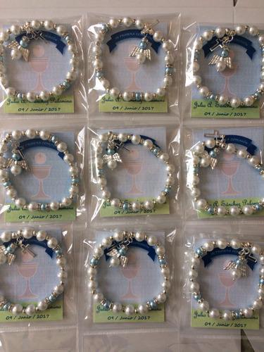 38 pulseras recuerdo primera comunión confirmacion niña niño