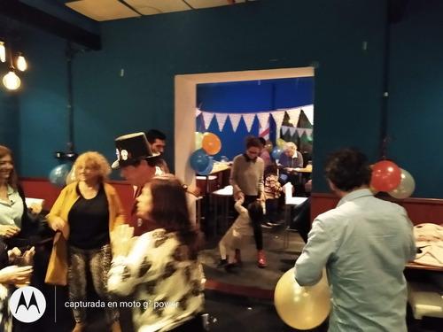 $380 salon + terraza + pizza y mas eventos fiestas cumpleaño