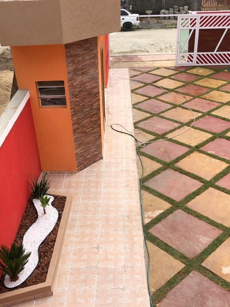 3807-sobrados condomínio fechado 2 dorms lado praia r$170mil