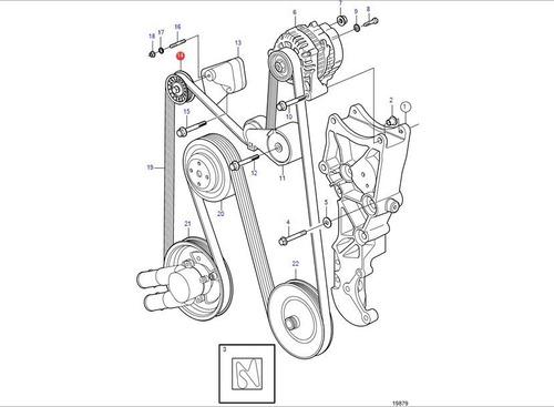 3860201 polia tensora motor volvo penta gasolina v6 v8