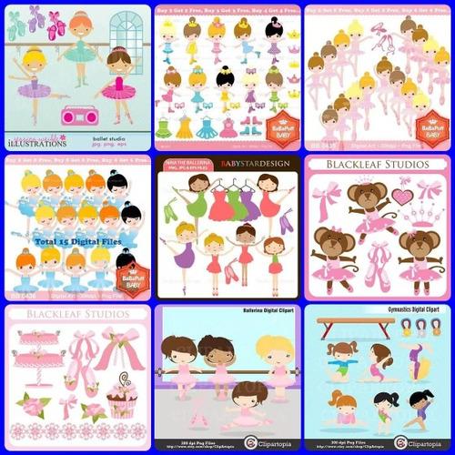 39 kits scrapbook bailarinas -frete gratis