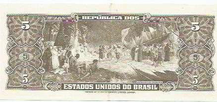 396 - cédula brasil c071 - cinco cruzeiros