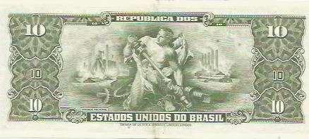 399 - cédula brasil c114 - dez cruzeiros