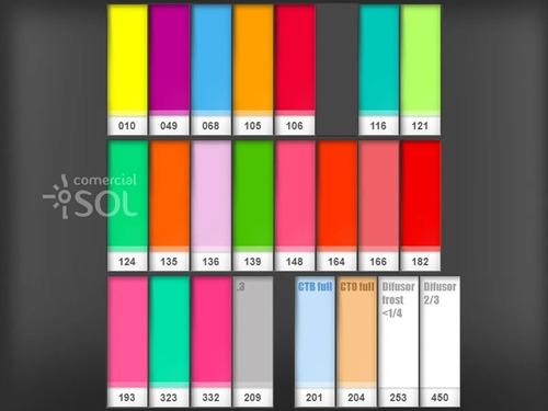 39x filtro gelatina colorido 25x30cm - 0,075mm