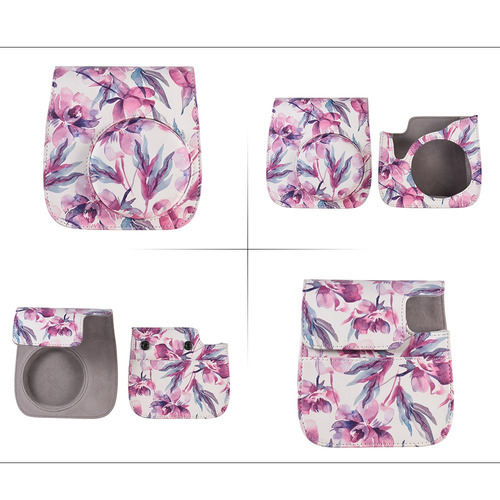 3*andoer pu camera case bag para fujifilm instax mini 9/8 +