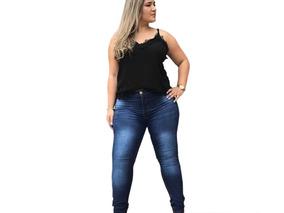 735dea462 Calca Jean Feminina Tamanho 52 54 56 58 60 62 64 66 68 70 - Calças com o  Melhores Preços no Mercado Livre Brasil