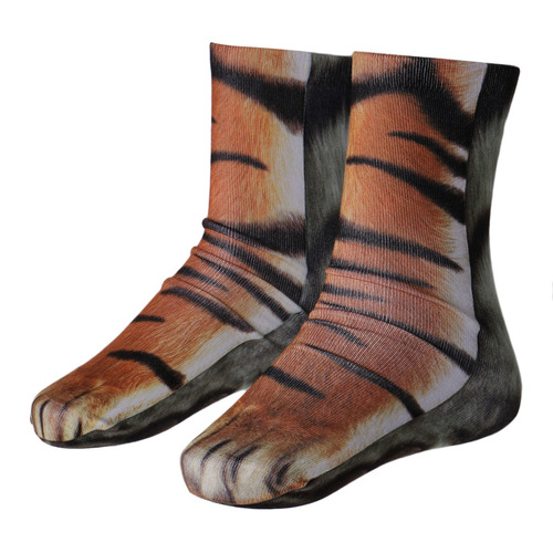 3d animal printed paw crew socks unisex funny fashion adult