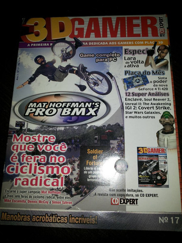 3d gamer revista e um jogo mat hoffman pro bmx