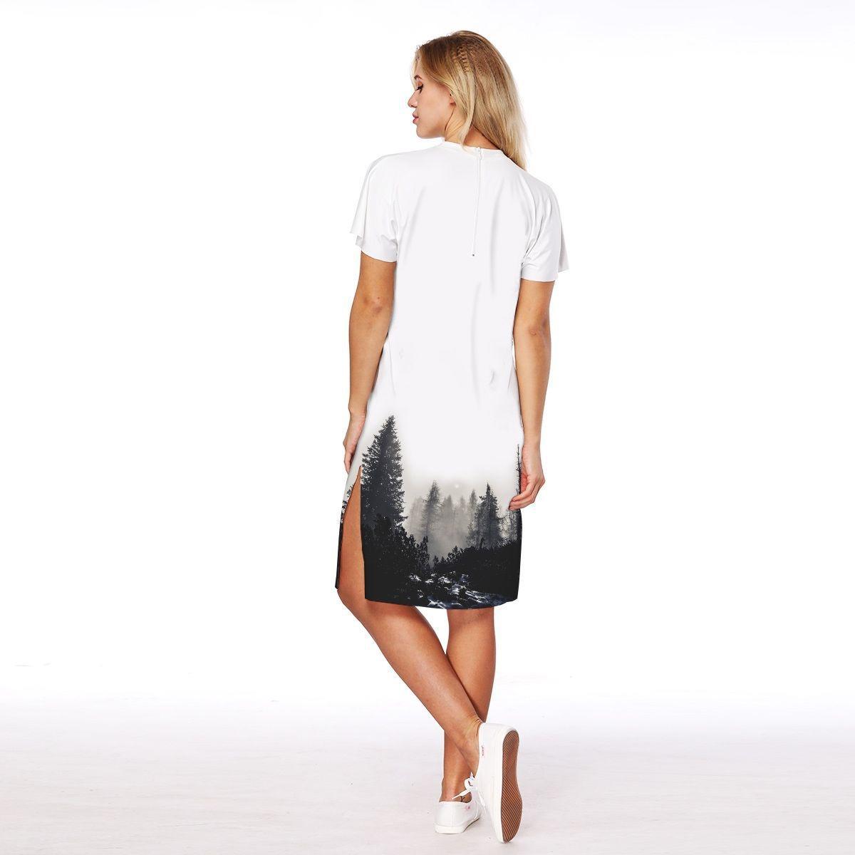 8e367e146e 3d impreso mujeres vestido cortos mangas rodilla -longitud s. Cargando zoom.