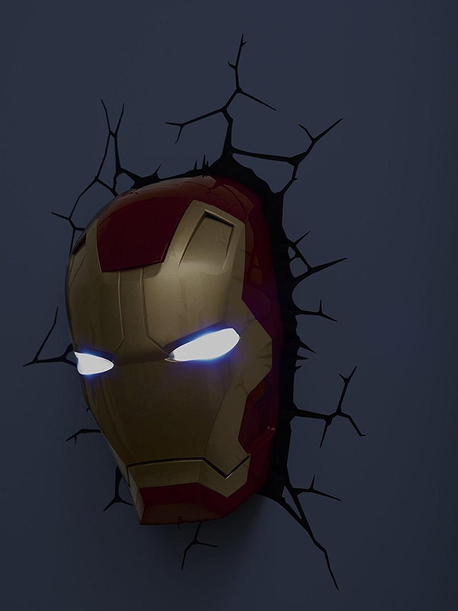 3d light fx marvel iron man mask 3d deco led wall light di cargando zoom aloadofball Choice Image