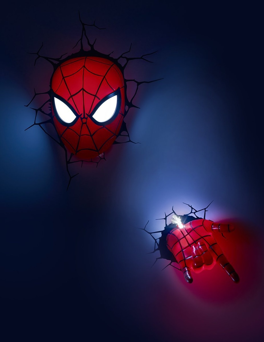 3d light fx marvel spiderman hand 3d deco led wall lightdis cargando zoom aloadofball Images