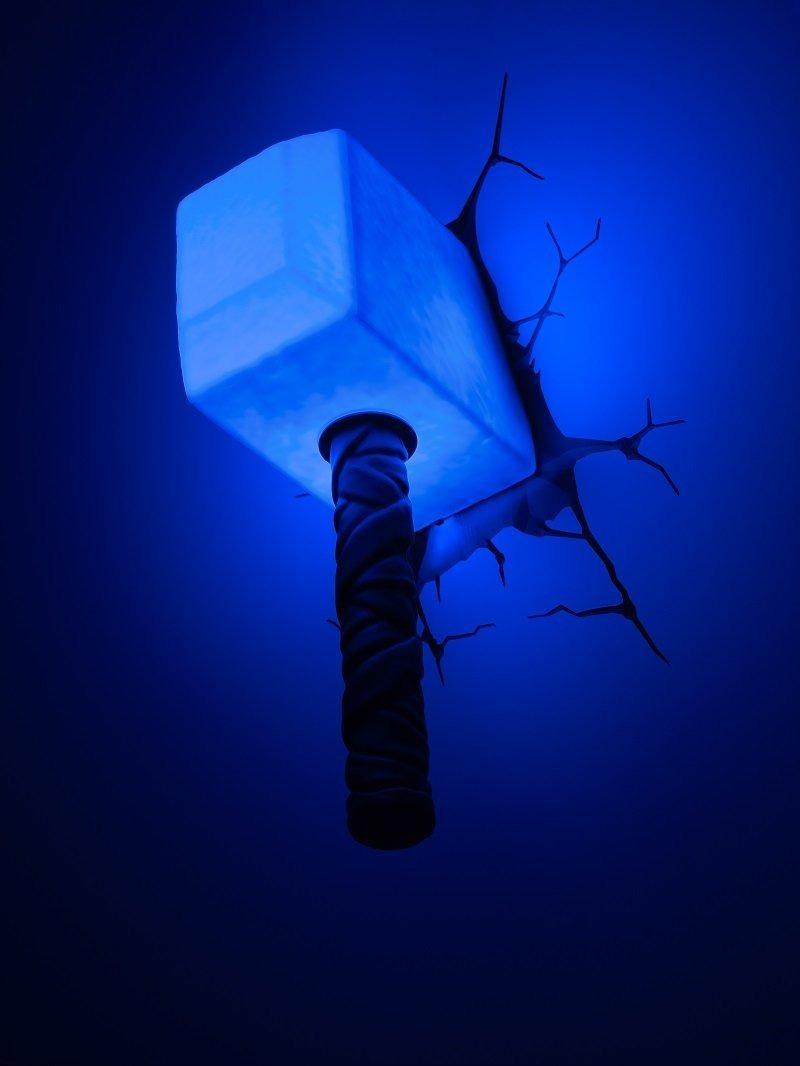 3d light fx marvel thor hammer 3d deco led wall light 160172 cargando zoom aloadofball Image collections