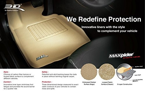 3d maxpider segunda fila custom fit tapete para seleccion