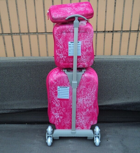 3d mochila estojo frozen  kit 3 peças importado frete grátis