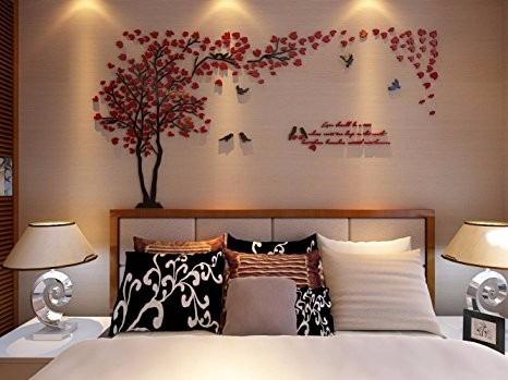 3d murales de pared de rbol de parejas para sala de estar - Murales de pared 3d ...