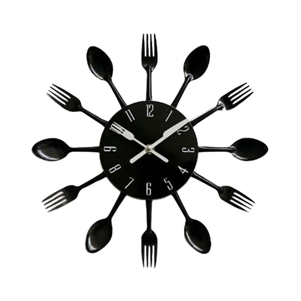 3d Reloj De Pared De Cuchara De Cocina Diseño Creativo De 1 ...