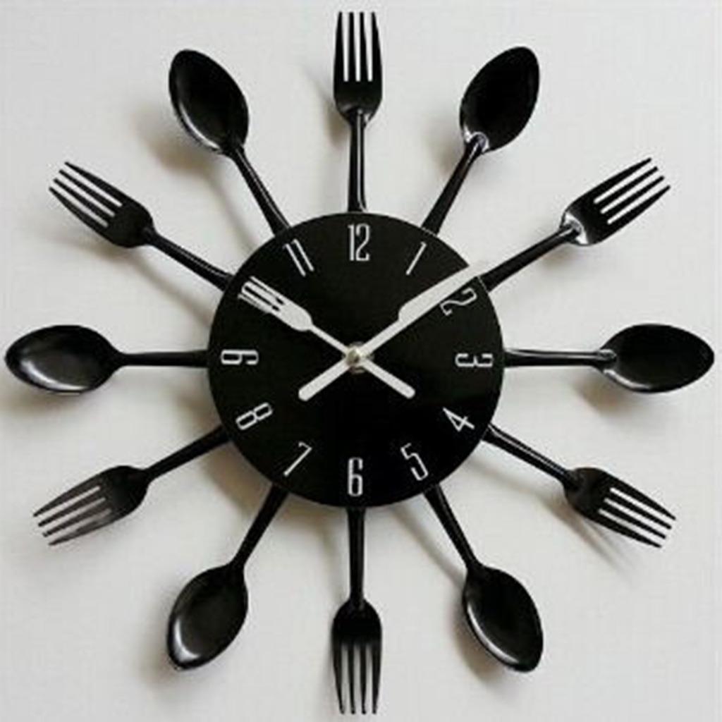 3d Reloj De Pared De Cuchara De Cocina Diseño Creativo De
