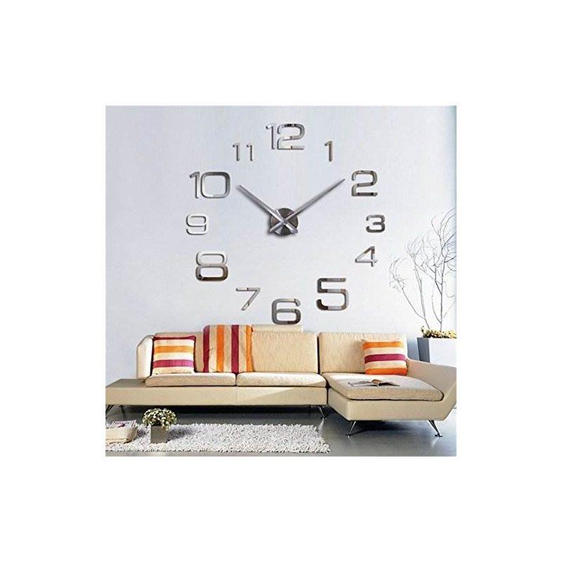 3d Reloj De Pared Diy Gran Pegatina Moderna Sin Marco Decora ...