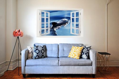 3d wall murals art decals decorator (22  x 14 , whale spouti