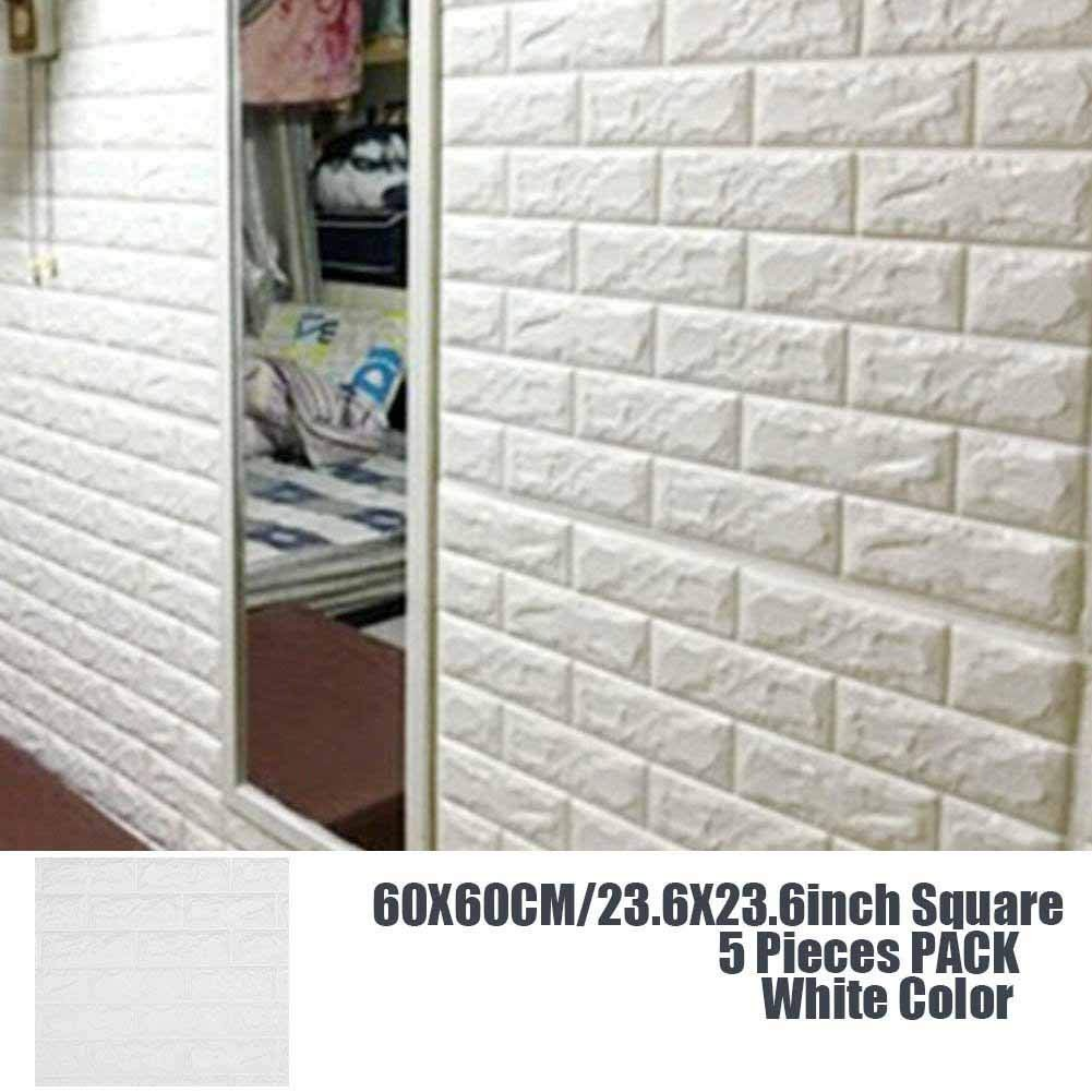 3d Wall Panels Stickers White Brick Self Adhesive Peel Sti