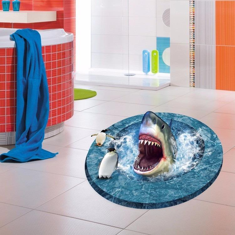 3d Wall Sticker Adesivo 3d Piso Ch 227 O Tubar 227 O Shark Floor