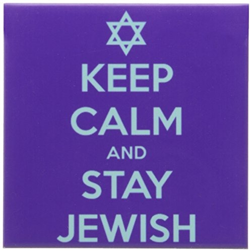 Holidays 3dRose cst/_163813/_3 Keep Calm and Stay Jewish Hanukkah Set of 4 Judaism-Ceramic Tile Coasters