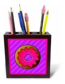 3dRose ph/_23064/_1 Aqua Sprinkles Tile Pen Holder 5-Inch