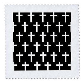 3dRose qs/_278952/_6 Garden Flag White