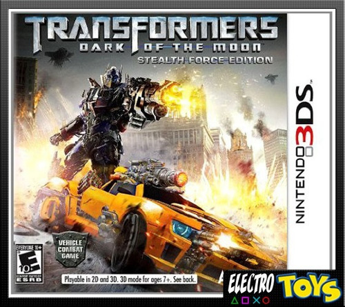 3ds transformers dark of the moon fisico nuevo sellado