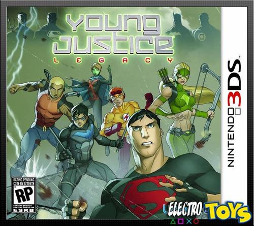 3ds young justice legacy liga de la justicia - nuevo!