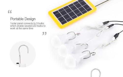 3gs-1200 3w lightcontrol equipo lámpara de emergencia solar