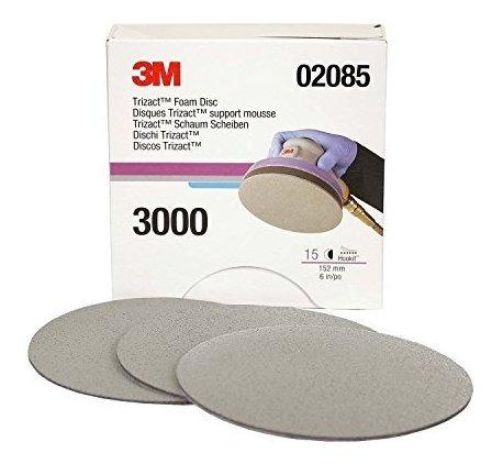 3m 02085 trizact hookit 6 p3000 grit foam disc