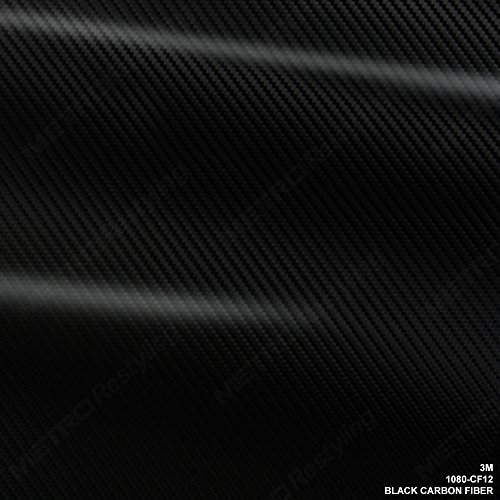 3m 1080 cf12 fibra de carbono negra 5 pies x 6 pies (30 pie
