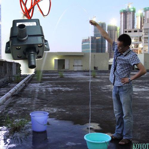 3m 240l/h silenciosa sin escobillas motor bomba 12v agua