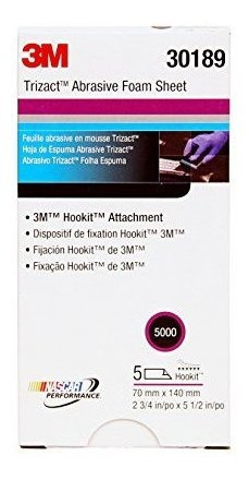 3m 30189 trizact hookit 234 x 512 p5000 grit foam sheet 5 co
