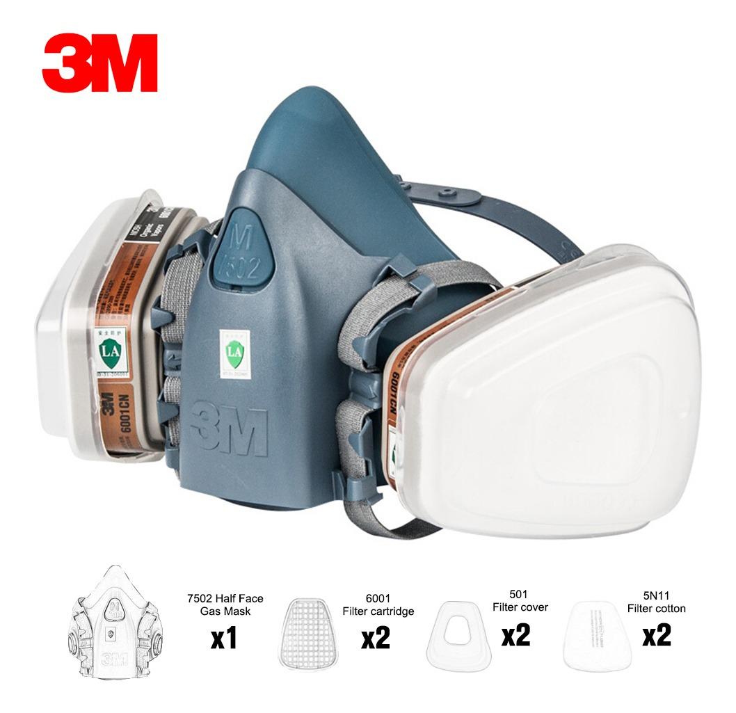 Seguridad Mascarilla Vapor 3m De - Para Filtros Con 7502