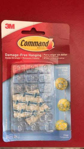 3m command ganchos mini sujetadores transparentes 20 ganchos
