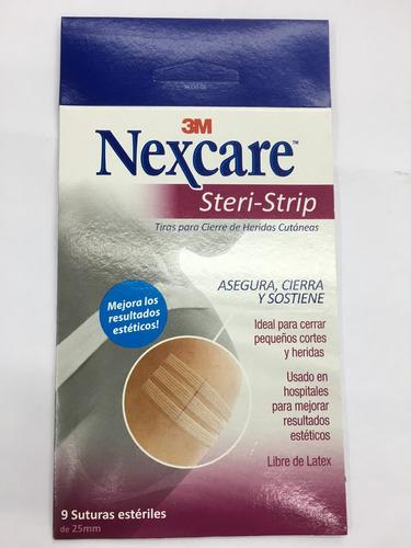 3m nexcare steri-strip r1541 6mmx75mm caja x 9 suturas