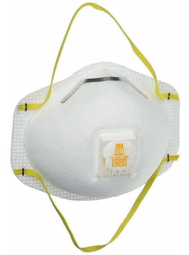 N95 Para Con Válvula Partículas 3m 8511 De La Respirador