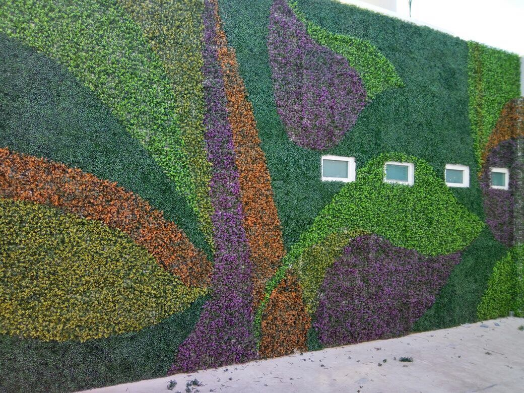 3m2 de follaje artificial laurel premium green line for Tela para muro verde