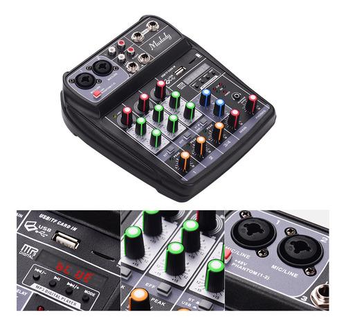 3*muslady ai-4 tarjeta de sonido compacta consola de mezclas