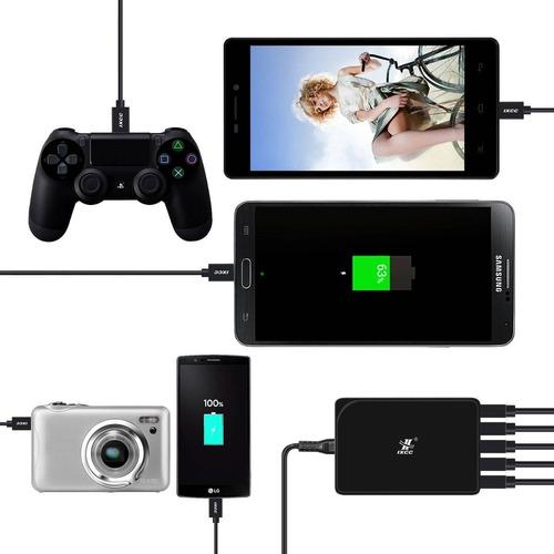 [3pack] cable de carga micro usb, ixcc 3 pies + envio gratis