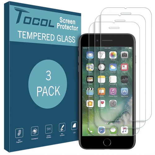 [3pack] tocoles para iphone 7 / 8protector de visualizacion
