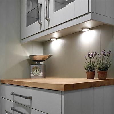 3pcs 510lm Puck Luces Led Cocina Gabinete Luz 6000k Luz