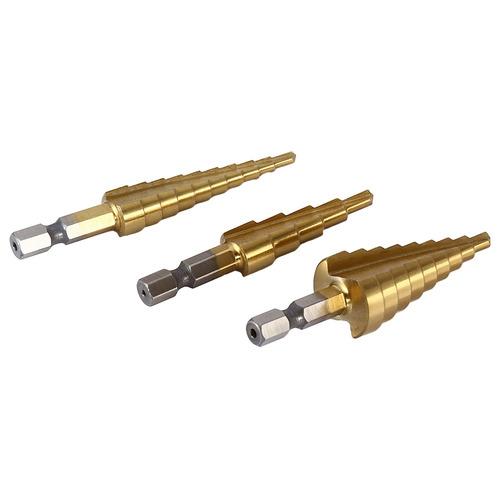 3pcs hss 6541 paso de cono de titanio recubierto de paso bro